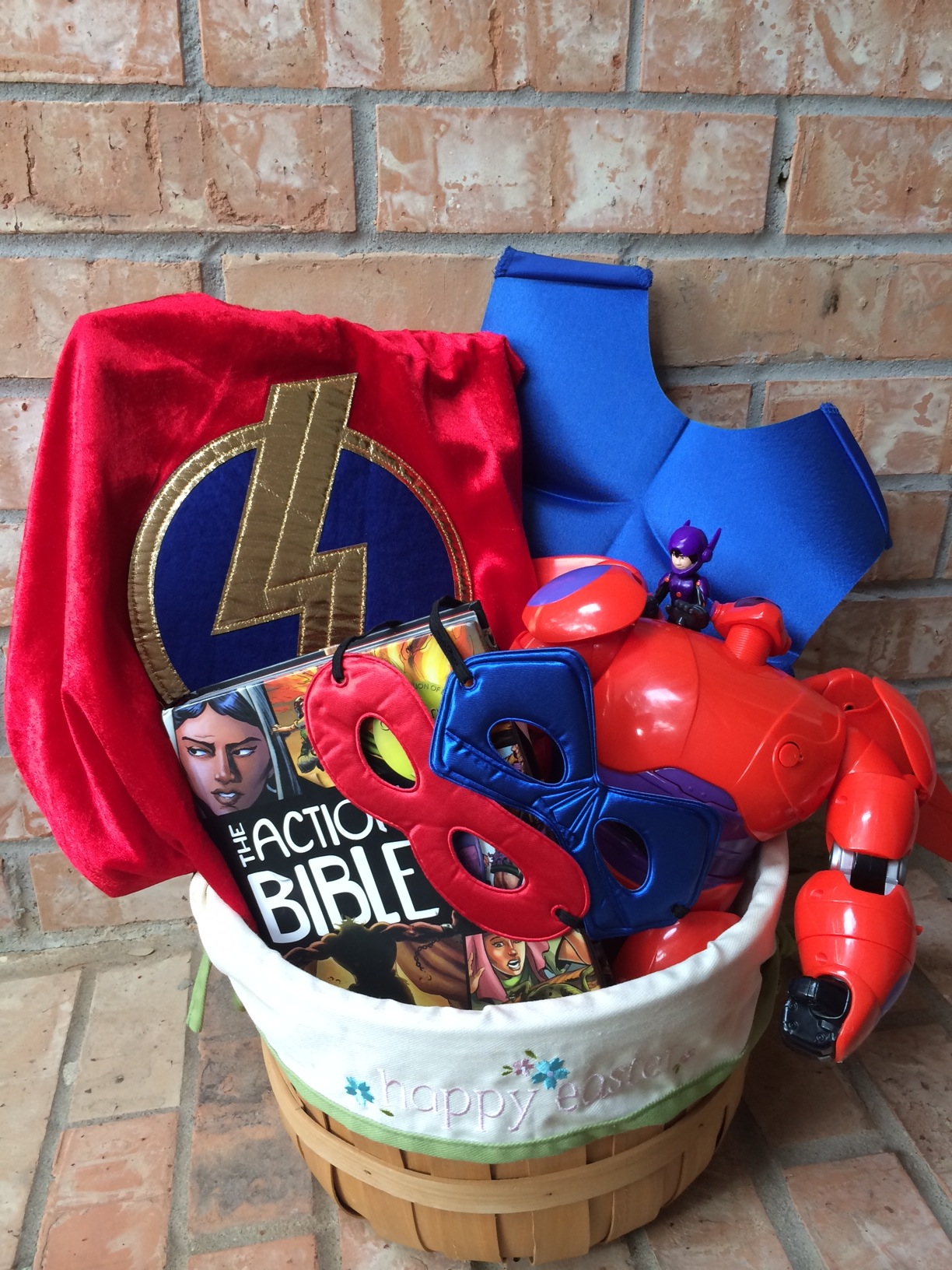 Disney easter basket super hero themed easter basket negle Image collections