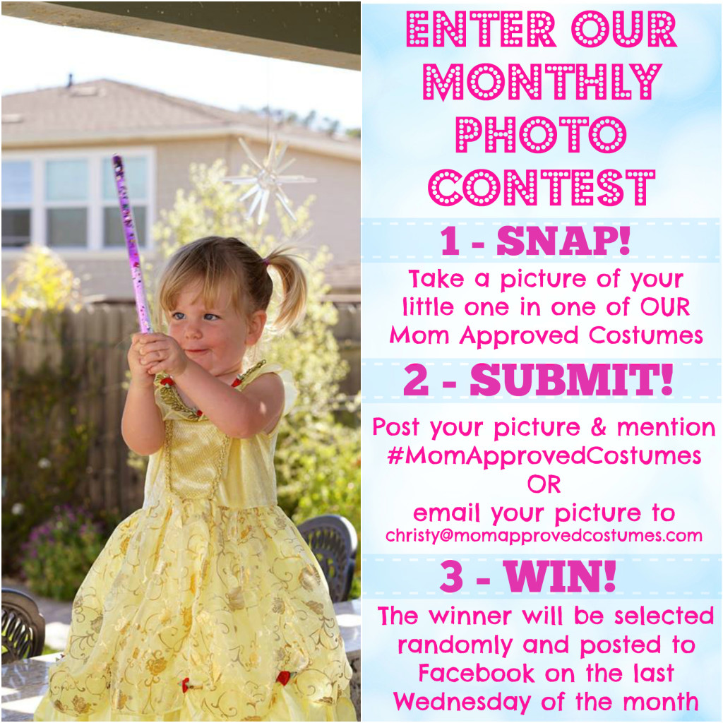 Monthly Photo Contest for Mom Approved Costumes