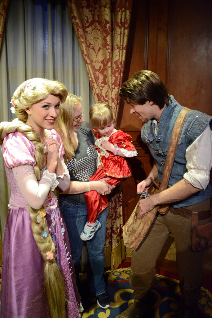 Meet Rapunzel and Flynn at Mickey's Very Merry Christmas Party