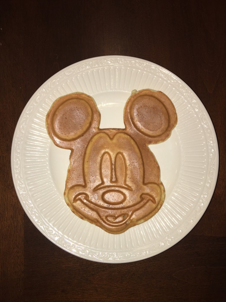 Full Size Mickey Waffle- Mickey Waffle Maker Review by the Mom Approved Blog