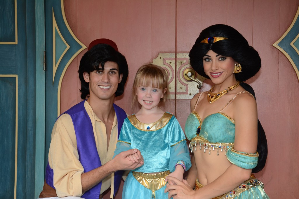 Aladdin and Jasmine at Magic Kingdom